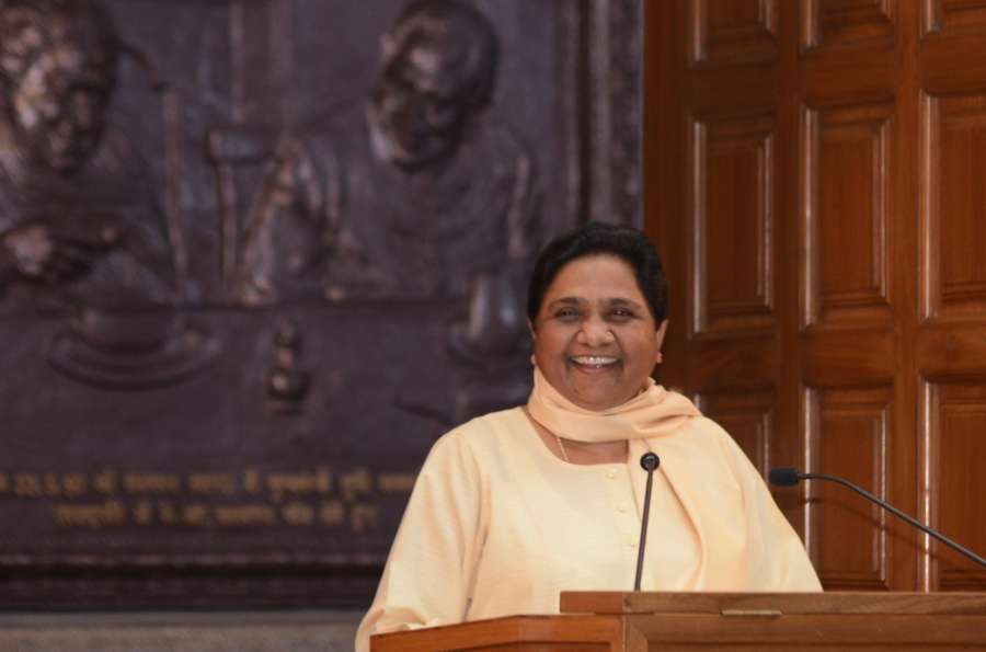 Lucknow: BSP Supremo Mayawati during a press conference in Lucknow on May 11, 2017. (Photo: IANS) by .
