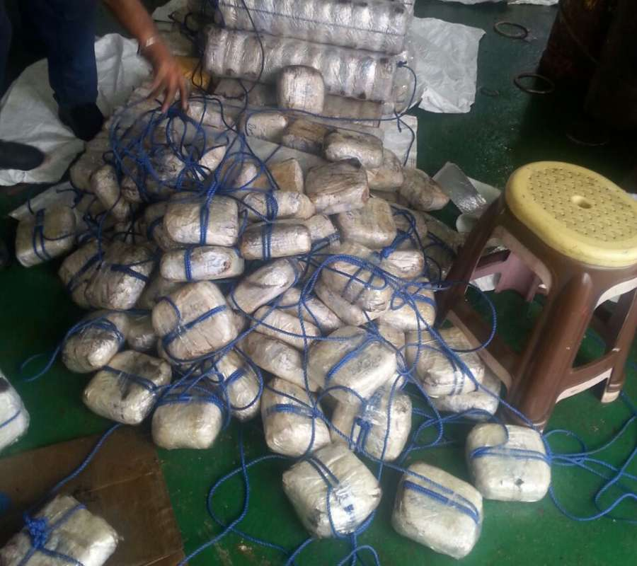 Ahmedabad: Heroin, valued at Rs 3,500 crore, that was seized by the Indian Coast Guard from a ship off the coast of Gujarat on July 30, 2017. (Photo: IANS) by .