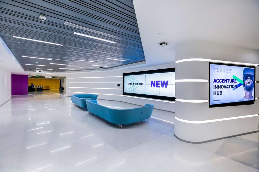 Bengaluru: A look inside the new Accenture Innovation Hub in Bengaluru. (Photo: IANS) by .