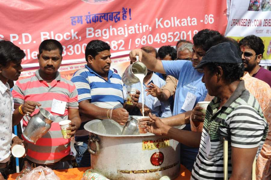 Kolkata: People participate in a