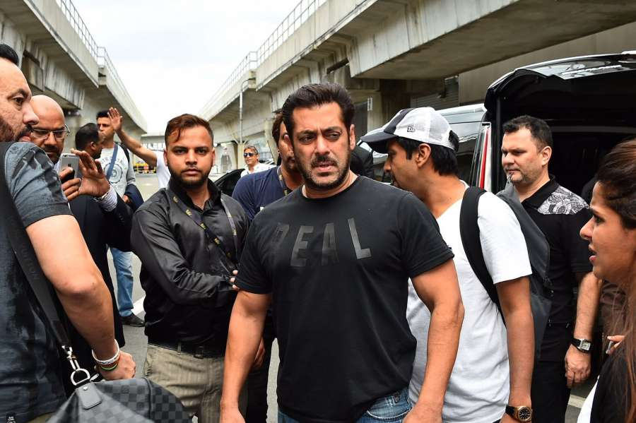 New York: Actor Salman Khan in New York for IIFA Awards, on July 12, 2017. (Photo: IANS) by .