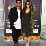 New York: Actors Kriti Sanon and Sushant Singh Rajput in New York for IIFA Awards, on July 12, 2017. (Photo: IANS) by .