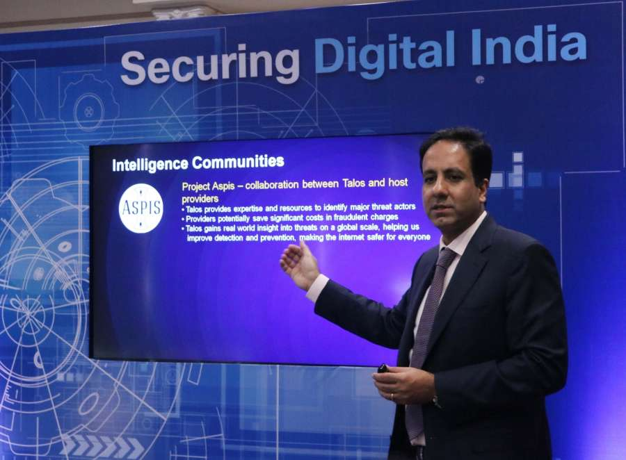 New Delhi: Cisco India and Saarc President Dinesh Malkani briefs on Cyber Security Investment in New Delhi on Dec 22, 2016. (Photo: IANS) by .