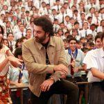 """New Delhi: Actors Ranbir Kapoor and Katrina Kaif during a programme to promote their upcoming film """"Jagga Jasoos"""" in Mumbai on July 10, 2017. (Photo: Amlan Paliwal/IANS) by ."""