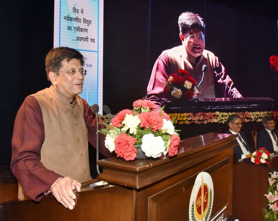 New Delhi: Union Power Minister Piyush Goyal addresses at the inauguration of the Indian Power Stations-2017 (International O&M Conference), organised by NTPC, in New Delhi on Feb 13, 2017. (Photo: IANS/PIB) by .