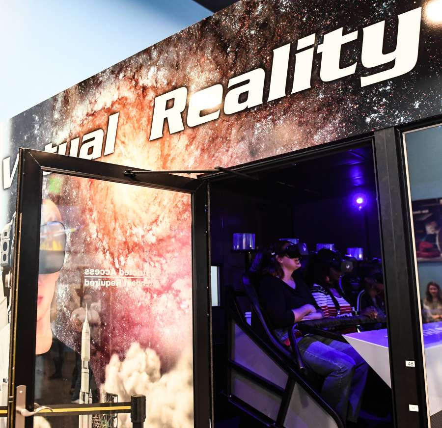 U.S.-WASHINGTON D.C.-NATIONAL AIR AND SPACE MUSEUM-VIRTUAL REALITY by .