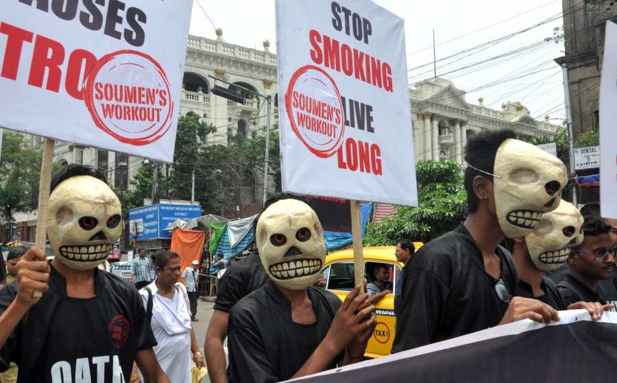 Kolkata: People participate in a rally organised on World No Tobacco Day 2017 in Kolkata, on May 31, 2017. (Photo: Kuntal Chakrabarty/IANS) by .