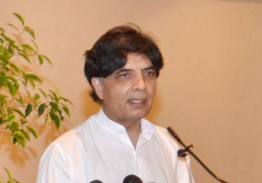 Pakistani politician Nisar Ali Khan.(File Photo: IANS) by .