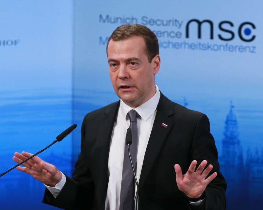 Prime Minister of Russia Dmitry Medvedev. (File Photo: IANS) by .