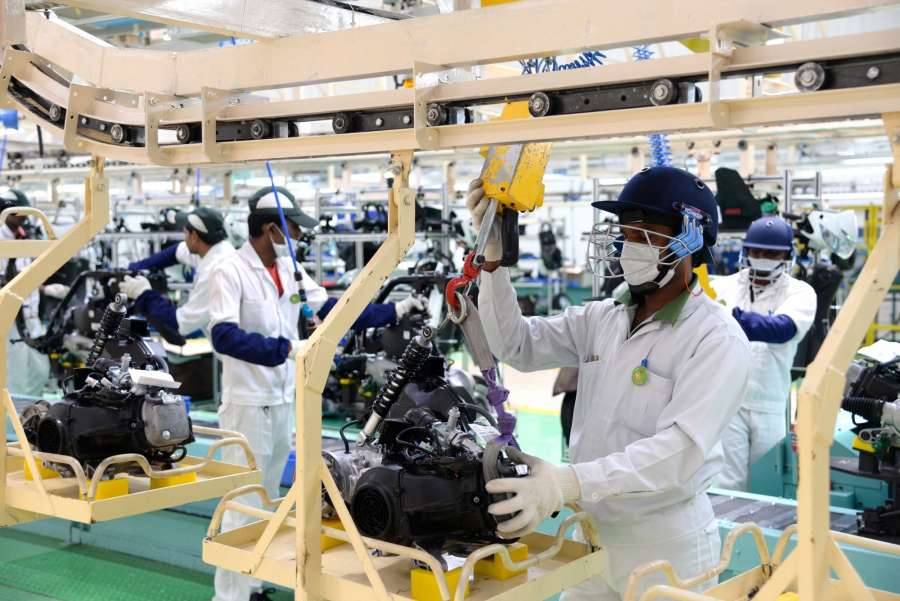 Narasapura: A view of Honda's two-wheeler manufacturing plant at Narasapura industrial area in Kolar district of Karnataka on Aug 2, 2017. (Photo: IANS) by .