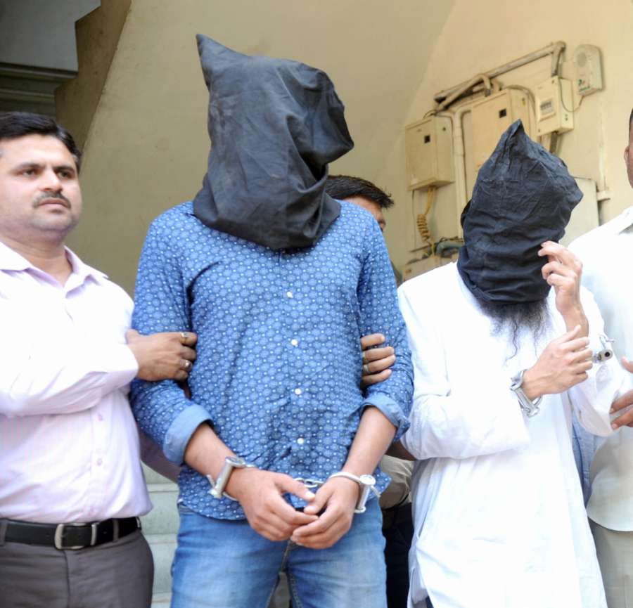 Ahmedabad: Police bring Indian Mujahideen co-founder Yasin Bhatkal to Sabarmati Central Jail in Ahmedabad from Delhi's Tihar jail on March 31, 2017. (Photo: IANS) by .