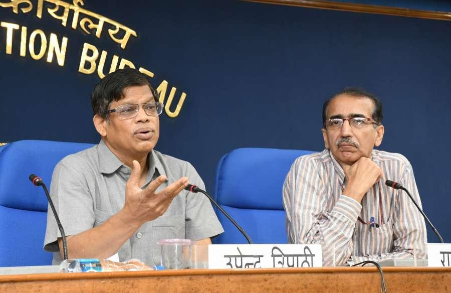 New Delhi: Interim DG of International Solar Alliance (ISA) Upendra Tripathy briefs the press regarding Initiatives/Schemes/Activities undertaken by the ISA in New Delhi on May 18, 2017. (Photo: IANS/PIB) by .