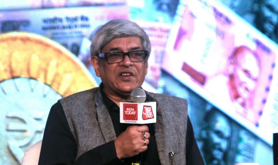 New Delhi: NITI Ayog member Bibek Debroy addresses during India Today's Midnight Conclave on GST in New Delhi, on June 30, 2017. (Photo: IANS) by .