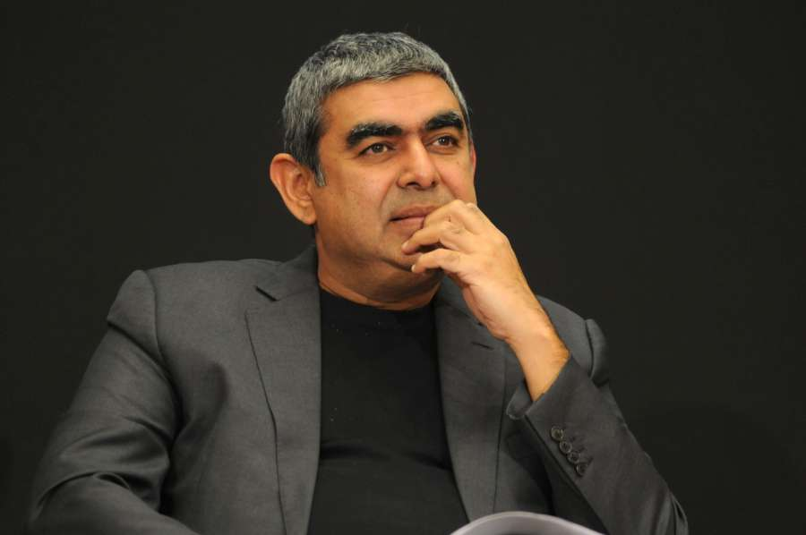 Bengaluru: IInfosys CEO Vishal Sikka during a press conference in Bengaluru on April 13, 2017. (Photo: IANS) by .