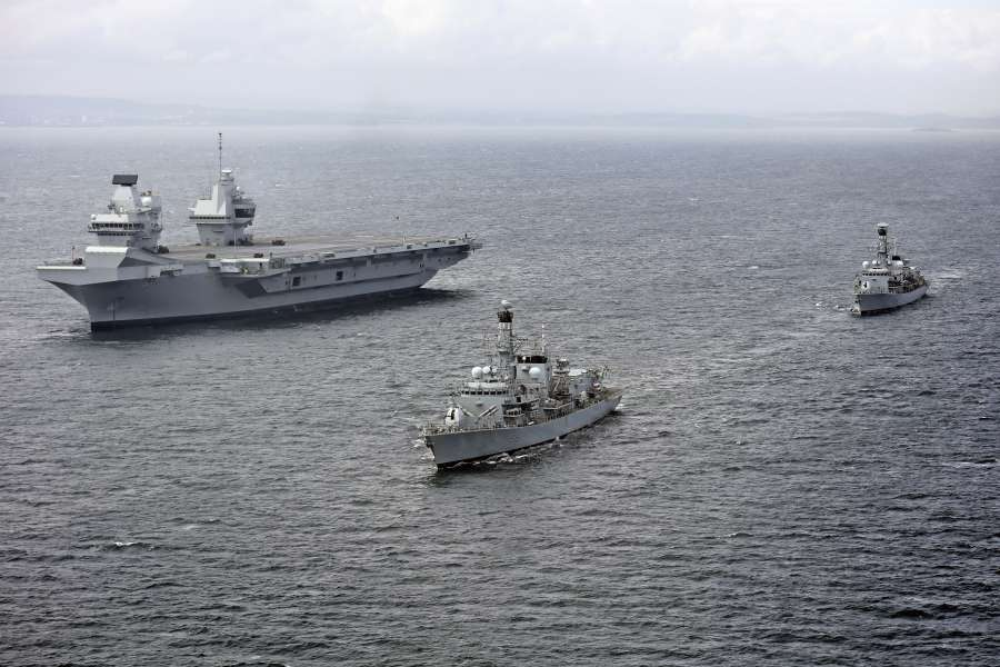 HMS Queen Elizabeth conducts vital system tests off the coast of Scotland by .