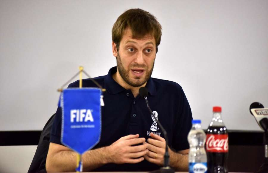 Guwahati: Tournament Director of FIFA U-17 World Cup, Javier Ceppi addresses a press conference in Guwahati on Aug 9, 2017. (Photo: IANS) by .