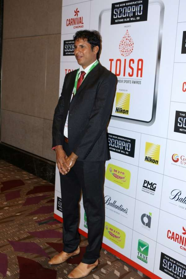 Mumbai: Paralympic javelin thrower Devendra Jhajharia during Times of India Sports Awards 2017 in Mumbai on March 20, 2017. (Photo: IANS) by .