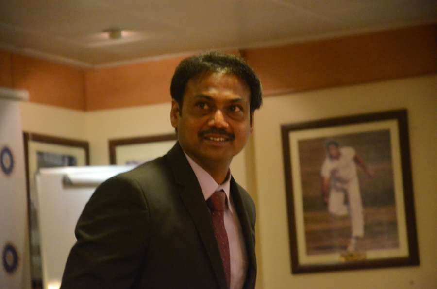 Mumbai: BCCI selection committee chairman MSK Prasad arrives to attend the selection committee meeting at BCCI head office in Mumbai, on Jan 6, 2017. (Photo: IANS) by .