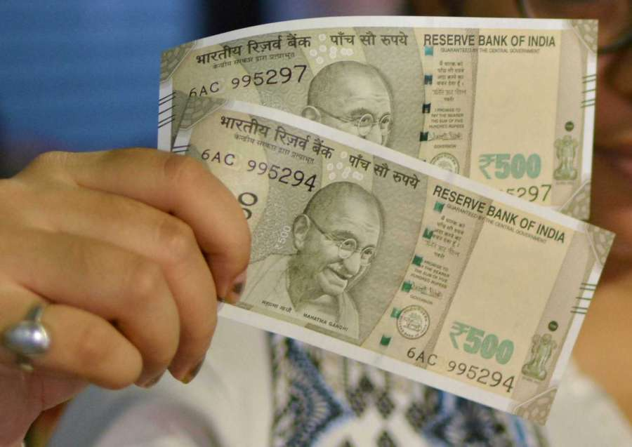 New Rs 500 denomination currency note. (File Photo: Kuntal Chakrabarty/IANS) by .