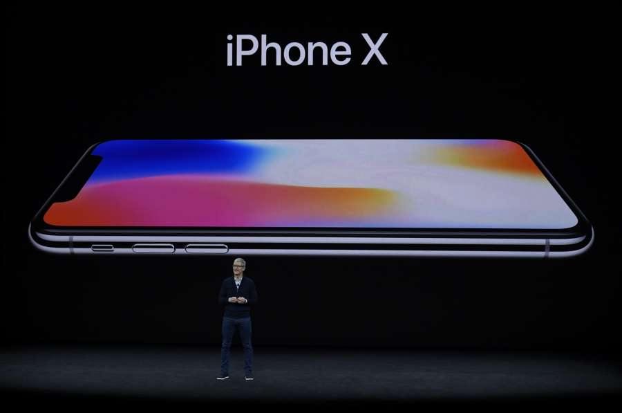 CUPERTINO (U.S.), Sept. 12, 2017 (Xinhua) -- Apple's Chief Executive Officer (CEO) Tim Cook attends a special event CUPERTINO (U.S.), Sept. 12, 2017 (Xinhua) -- Apple's Chief Executive Officer (CEO) Tim Cook introduces new iPhone X during a special event in Cupertino, California, the United States on Sept. 12, 2017. Apple Inc. released a series of new products and services in Cupertino on Tuesday. (Xinhua/IANS) by .