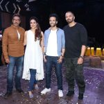 """Mumbai: Actors Ajay Devgan, Tabu, Tusshar Kapoor and Director Rohit Shetty during the promotion of their upcoming film """"Golmaal Again"""" in Mumbai on Sept 19, 2017. (Photo: IANS) by ."""
