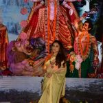 Mumbai: Actress Rani Mukherjee during Durga Puja celebrations in Mumbai on Sept 29, 2017. (Photo: IANS) by .