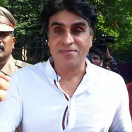 """Hyderabad: """"Chennai Express"""" producer Karim Morani in police custody after he surrendered to police in connection with the alleged rape of a 25-year-old aspiring actress, hours after the Supreme Court dismissed his bail plea, in Hyderabad on Sept 23, 2017. (Photo: IANS) by ."""