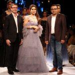 "Mumbai:Actress Bhumi Pednekar walk the ramp for ""The Indias International Jewellery Week 2017"" in Mumbai on Sept 24, 2017.(Photo: IANS) by ."