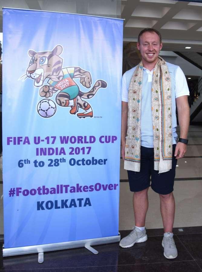 Kolkata: England coach Steve Cooper after inspecting the Salt Lake Stadium in Kolkata, on July 9, 2017. (Photo: IANS) by .