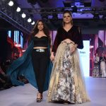 "Mumbai: Actress Udita Goswami displays the creation of fashion designer Rocky S during the ""Bombay Times Fashion Week"" 2017 in Mumbai. (Photo: IANS) by ."