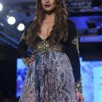 "Mumbai: Actress Bipasha Basu displays the creation of fashion designer Rocky S during the ""Bombay Times Fashion Week"" 2017 in Mumbai. (Photo: IANS) by ."