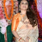 Mumbai: Actress Rani Mukherjee at North Bombay Sarbojanin Durga Puja Samiti's Maha Navami Puja during Durga Puja celebrations in Mumbai on Sept 29, 2017. (Photo: IANS) by .