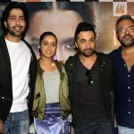 """New Delhi: Actors Siddhanth Kapoor, Shraddha Kapoor, Ankur Bhatia along with director Apoorva Lakhia during a press conference to promote their upcoming film """"Haseena Parkar"""" in New Delhi on Sept 18, 2017. (Photo: Amlan Paliwal/IANS) by ."""