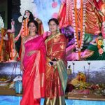 Mumbai:Actresses Tanisha Mukherjee and Sharbani Mukherjee during the celebration of Durga Ashtami in Mumbai on Sept 28, 2017.(Photo: IANS) by .