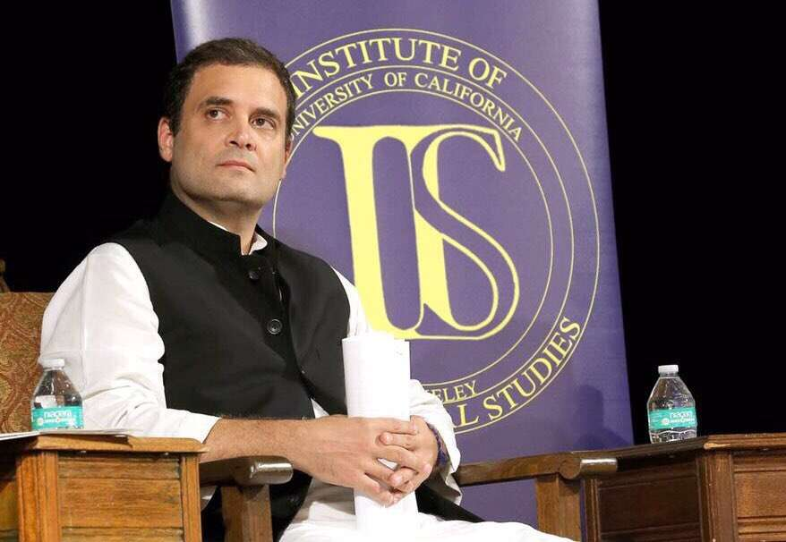 Berkeley: Congress vice president Rahul Gandhi at the event 'India at 70: Reflections on the Path Forward' at the University of California, Berkeley on Sept 12, 2017. (Photo: IANS/@INCIndia) by .