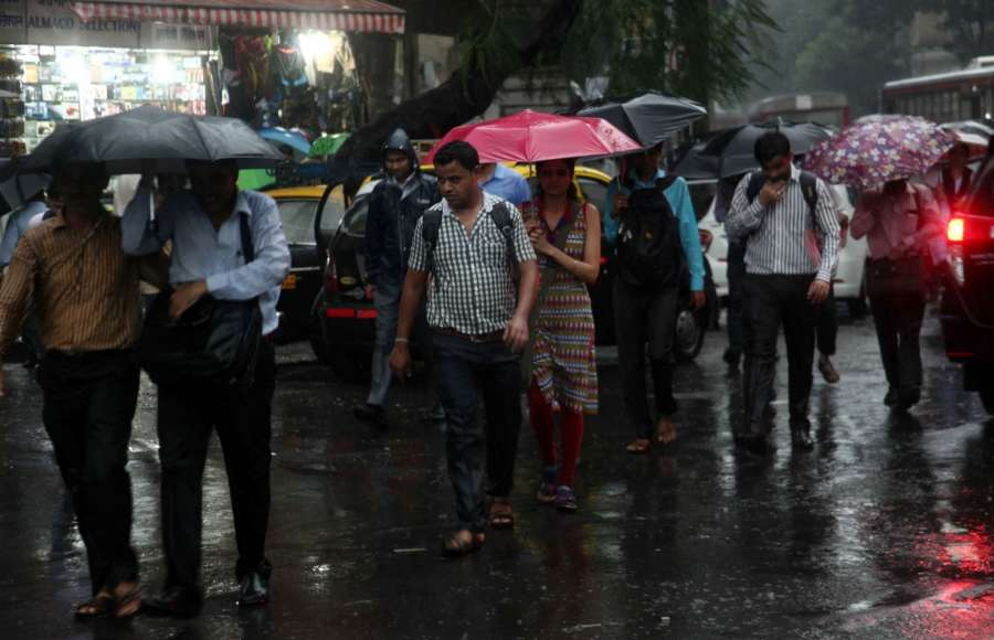 Mumbai: Rains lash Mumbai on Sept 20, 2017. (Photo: IANS) by .