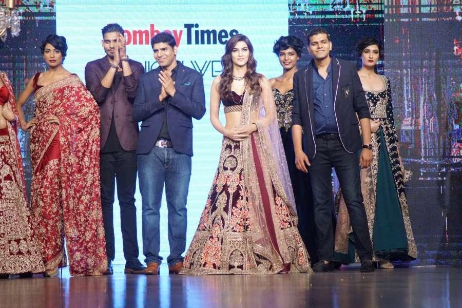 Mumbai: Actress Kriti Sanon displays the creation of Mirabella Annual Wedding Collection during the