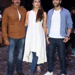 """Mumbai: Actors Ajay Devgan, Tabu and Tusshar Kapoor during the promotion of their upcoming film """"Golmaal Again"""" in Mumbai on Sept 19, 2017. (Photo: IANS) by ."""