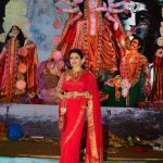 Mumbai: Actress Bhagyashree during Durga Puja celebrations in Mumbai on Sept 29, 2017. (Photo: IANS) by .
