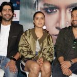 """New Delhi: Actors Siddhanth Kapoor, Shraddha Kapoor and Ankur Bhatia during a press conference to promote their upcoming film """"Haseena Parkar"""" in New Delhi on Sept 18, 2017. (Photo: Amlan Paliwal/IANS) by ."""