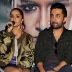 """New Delhi: Actors Siddhanth Kapoor and Shraddha Kapoor during a press conference to promote their upcoming film """"Haseena Parkar"""" in New Delhi on Sept 18, 2017. (Photo: Amlan Paliwal/IANS) by ."""