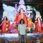 Mumbai: Filmmaker Imtiaz Ali at North Bombay Sarbojanin Durga Puja Samiti's Maha Navami Puja during Durga Puja celebrations in Mumbai on Sept 29, 2017. (Photo: IANS) by .