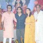 Mumbai: Actors Ranbir Kapoor, Alia Bhatt, Deb Mukherjee and director Ayan Mukerji at North Bombay Sarbojanin Durga Puja Samiti's Maha Navami Puja during Durga Puja celebrations in Mumbai on Sept 29, 2017. (Photo: IANS) by .