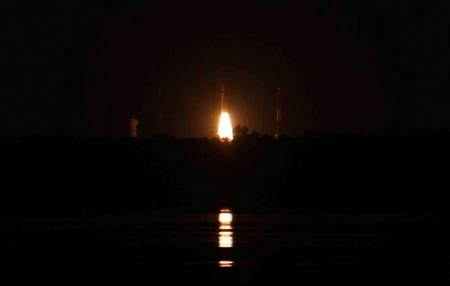 Chennai: Polar Satellite Launch Vehicle (PSLV) rocket blasts off Sriharikota rocket port with 1,425-kg IRNSS-1H satellite -- part of Indian Regional Navigation Satellite System (IRNSS) on Aug 31, 2017. PSLV failed to deliver India's eighth navigation satellite in its intended orbit. (Photo: IANS) by .