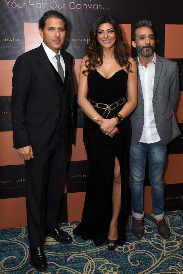 New Delhi:Actress Sushmita Sen at the launch of a hair care brand in New Delhi on Sept. 21, 2017. (Photo: Amlan Paliwal/IANS) by .