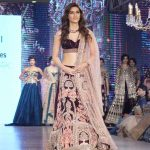 """Mumbai: Actress Kriti Sanon displays the creation of Mirabella Annual Wedding Collection during the """"Bombay Times Fashion Week"""" 2017 in Mumbai on Sept 10, 2017. (Photo: IANS) by ."""