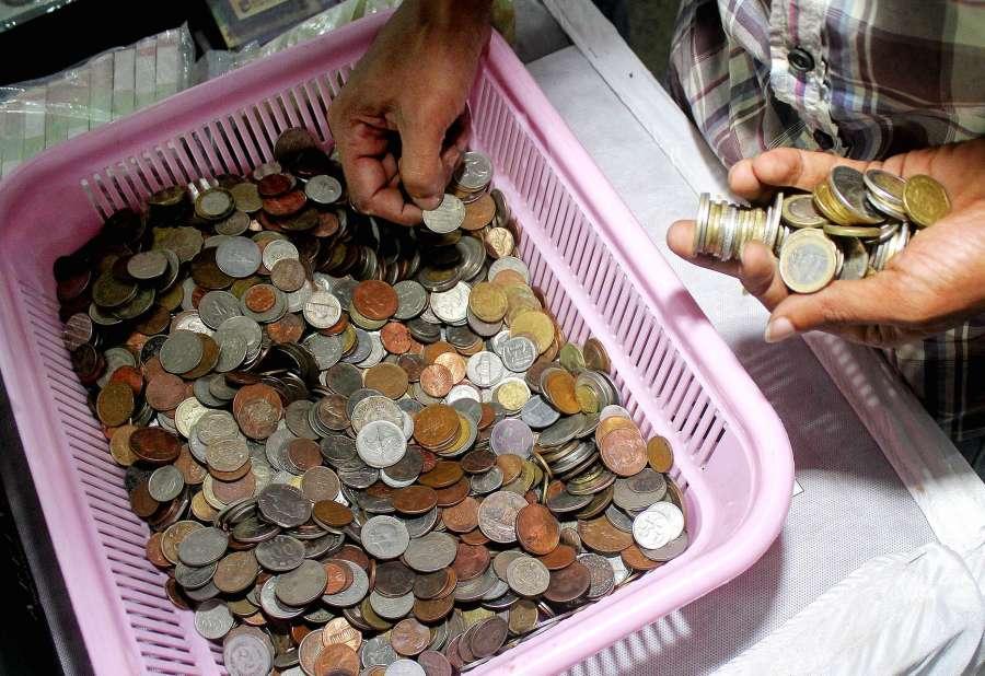 "Bengaluru: Rare coins on display during ""Nanyadarshini - 2017"" rare coins and currencies exhibition organised by Alias Karnataka Numismatic Society, in Bengaluru on July 28, 2017. (Photo: IANS) by ."