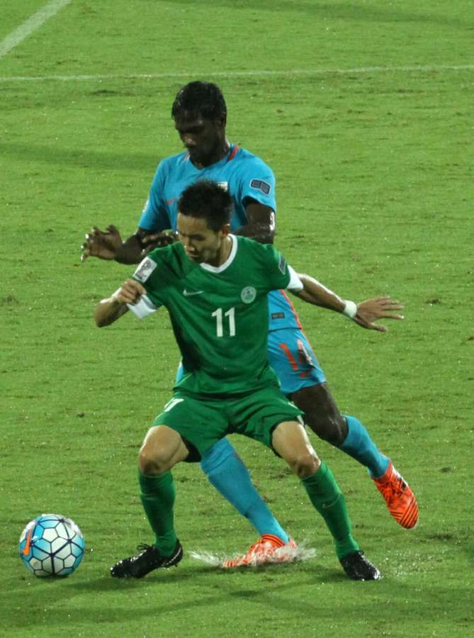 Bengaluru: Players in action during 2019 AFC Asian Cup qualifier match between India and Macau at Kanteerava Stadium in Bengaluru, on Oct 11, 2017. (Photo: IANS) by .
