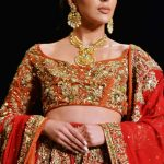 LAHORE, Oct. 15, 2017 (Xinhua) -- A model presents a creation by designer Wasim Khan on the first day of the Bridal Fashion Week in eastern Pakistan's Lahore, on Oct. 14, 2017. The three-day event organized by Pakistan Fashion Design Council is to showcase the latest bridal collections. (Xinhua/Sajjad/IANS) by .
