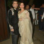 Mumbai: Director Karan Johar and actress Deepika Padukone during a Diwali party hosted by actor Anil Kapoor in Mumbai, on Oct 19, 2017. (Photo: IANS) by .